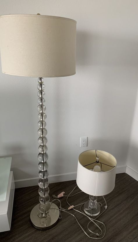Pottery Barn Stacked Crystal Lamps for Sale in West