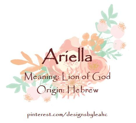 32+ Ariella name meaning in arabic ideas