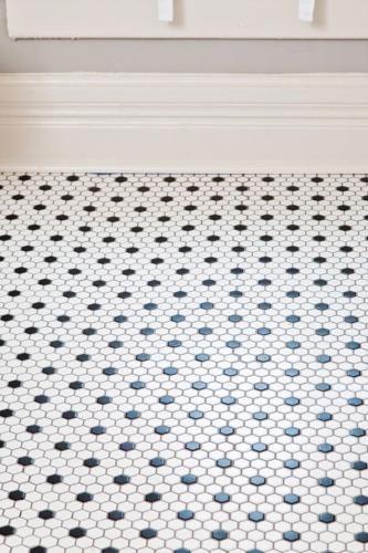 Mosaique Decor Dots Art Deco Hexagone Blanc Et Noir Par 1 M Salle De Bain Art Deco Idee Salle De Bain Carreaux Noir Et Blanc