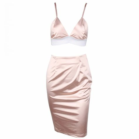 7757cc2a588 MAHROX Satin Skirt And Bralette Top Set – L eau de Lychee