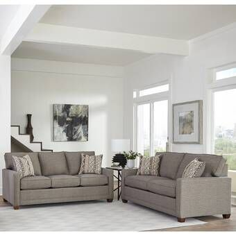 Winston Porter Saltzman 2 Piece Living Room Set Wayfair Living Room Sets Living Room Sets Furniture Leather Sofa And Loveseat