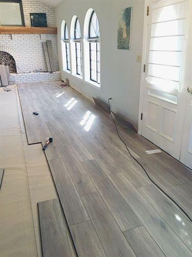 Water Resistant Laminate Flooring Little Green Notebook Basementflooring Laminate Flooring Basement Basement Remodeling Home Remodeling