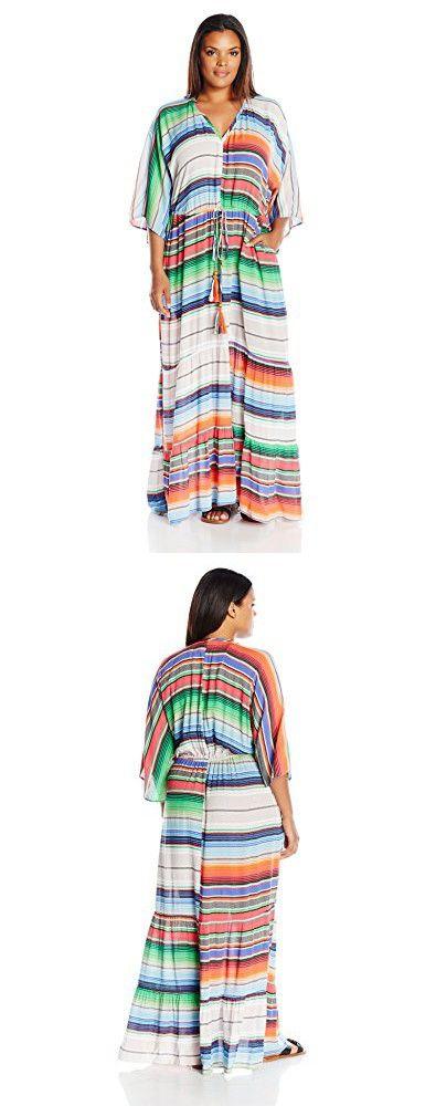 0ce8e19afe8 Melissa McCarthy Seven7 Women s Plus Size Surplice Adjustable Waist Maxi  Dress