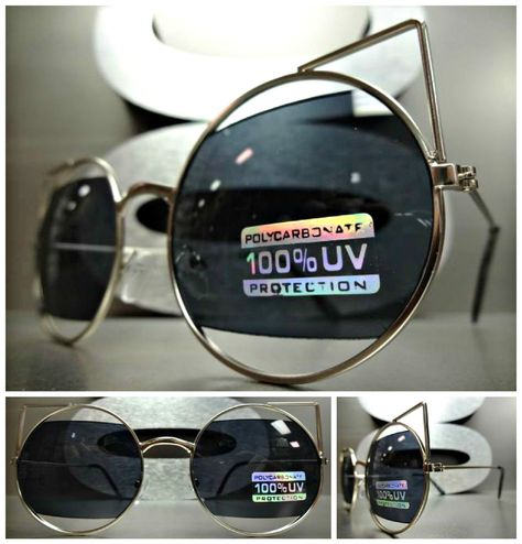 CLASSIC VINTAGE RETRO Bold Unique CAT EYE Style SUN GLASSES Elegant Silver  Frame in Clothing, Shoes   Accessories, Women s Accessories, Sunglasses    Fashion ... cbed45a89941