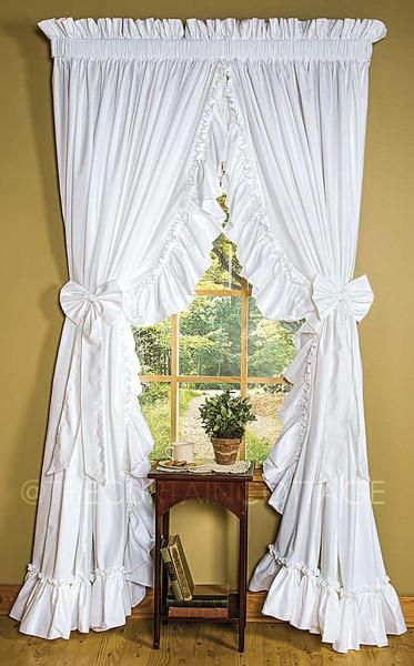 Cottage Ruffled Curtains Ruffle Curtains Cottage Curtains Curtains