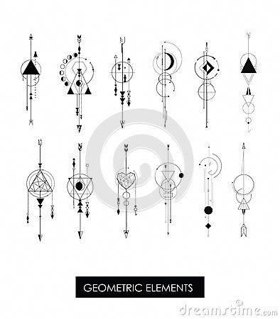 geometric tattoo design simple #Geometrictattoos