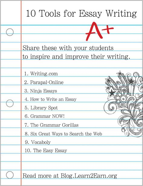 10 Tool For Essay Writing To Share With Your Student Rubric Competition Com