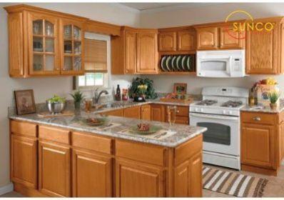 Sunco 10x10 Randolph Oak Kitchen Cabinet Oak Kitchen Cabinets Kitchen Remodel Oak Kitchen