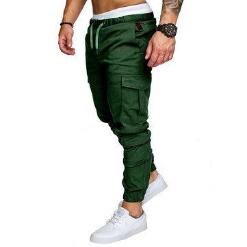 AFirst Boy Causal Elastic Waist Chino Cargo Jogger Pant with Pocket