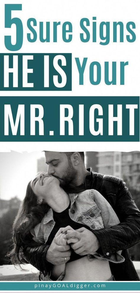 How can you tell if he is your Mr. Right or if you should keep looking? Here are 5 Sure Signs He Is Your Mr. Right. #firstdates #relationshipadviceforwomen #relationshipadvice #dating #toxicrelationship
