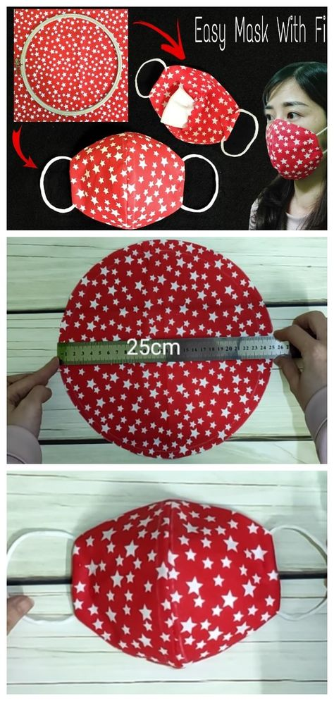 The most relevant and demanded item today is masks. Sewing Hacks, Sewing Tutorials, Sewing Crafts, Sewing Diy, Hand Sewing Projects, Easy Face Masks, Best Diy Face Mask, Diy Couture, Diy Mask