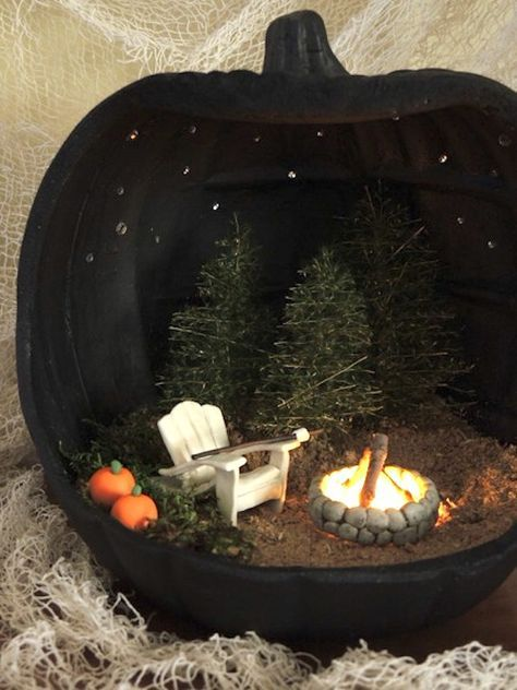 Save this for 18 pumpkin dioramas that will slay your Halloween decor. – Brit Morin Save this for 18 pumpkin dioramas that will slay your Halloween decor. Save this for 18 pumpkin dioramas that will slay your Halloween decor. Looks Halloween, Halloween Fairy, Halloween Tags, Halloween 2018, Holidays Halloween, Halloween Pumpkins, Happy Halloween, Homemade Halloween, Halloween Halloween
