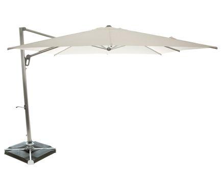 Parasol Cuadrada De Aluminio Mykonos Blanco 300x300 Cm Leroy Merlin Parasol Sombrillas Para Terrazas Aluminio