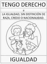 Resultado De Imagen Para Derechos Del Nino Para Colorear Esl Activities Social Science School Bullying