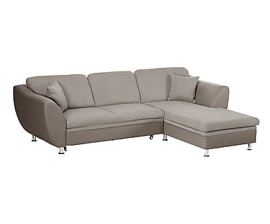 Divano Letto Con Chaise Longue Dx Maderna Taupe 268x185x84 Cm