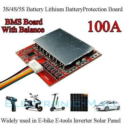 12v 16v 21v 3s 4s 5s 100a Pcm Bms For 3x 4x 5x Li Ion 3 7v Battery W Balance Lipo Battery Lipo Battery
