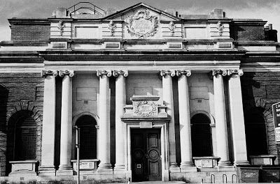 Lewisham Library - built 1905 Edwardian Baroque based on Classic Renaissance. Architect Sir Alfred Brumwell Thomas (1868-1948). Benefactor Andrew Carnegie. Sadly left to decay, squatters and vandalism thankfully saved by Friends of Deptford Library and 1000's of hours of community service. Now Lewisham Arthouse. I joined this magnificent library aged five and instilled a life long passion for literature so means a great deal to me