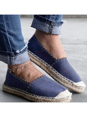 casuel Women/'s Espadrille Flats Slip Ons Sneakers Casual Canvas Shoes Comfortable Loafer
