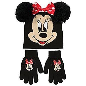 Disney Minnie Mouse Hat and Mittens Set Girls Kids Winter Set