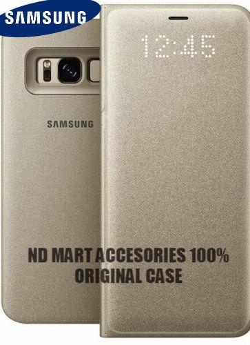 Official Samsung Galaxy S8 Plus Led Flip Wallet Cover Gold Samsung Samsung Galaxy Samsung Samsung Galaxy Phone