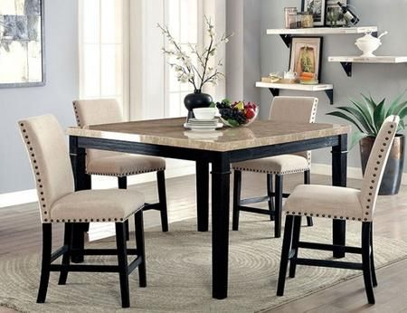 Furniture Of America Cm3466pt4pc 1 084 57 Counter Height Table Sets Counter Height Dining Table Counter Height Dining Sets