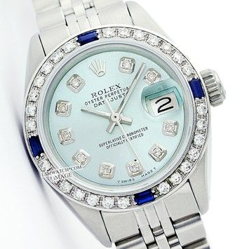 Buy your lady datejust watch Rolex on Vestiaire Collective, the luxury consignment store online. Second-hand Lady datejust watch Rolex Blue in Steel available.