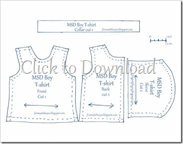 Of Bjd Fashion T Shirts For Our Boy With A Tutorial Doll Clothes Patterns Free Doll Sewing Patterns Boys Sewing Patterns