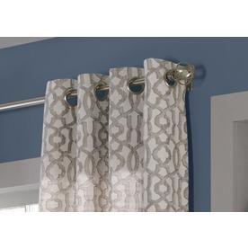 Allen Roth Wrenbury 84 In Taupe Polyester Light Filtering Single