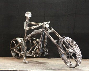 Wroughty Rider Cycle Welded Metal Art Motorcycle Sculpture Etsy Metal Art Welded Motorcycle Sculpture Metal Art Sculpture