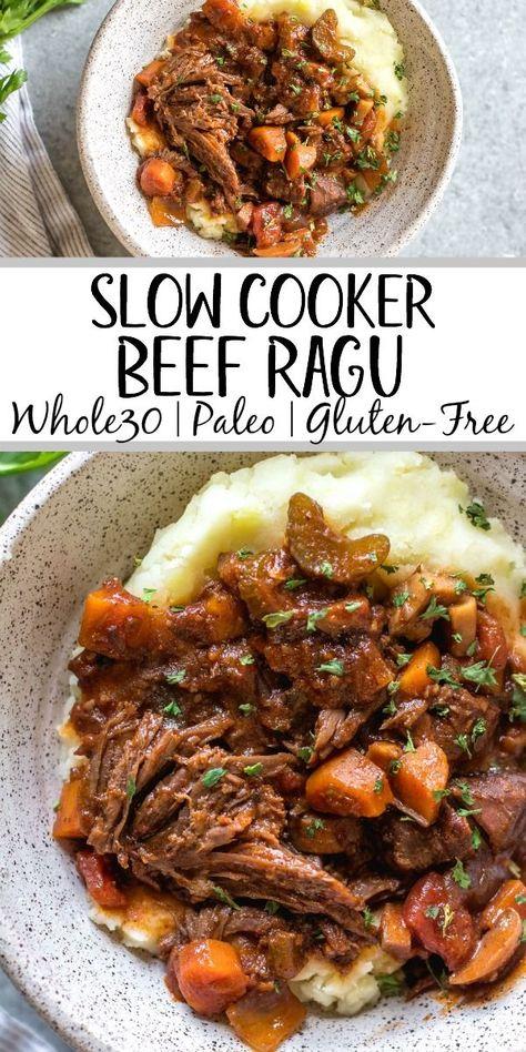 Slow Cooker Beef Ragu: Whole30, Paleo, Gluten-Free - Whole Kitchen Sink