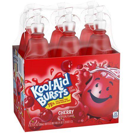 Kool Aid Bursts Cherry Ready To Drink Juice 6 6 75 Fl Oz Packs Red In 2021 Kool Aid Cherry Drink Flavored Drinks