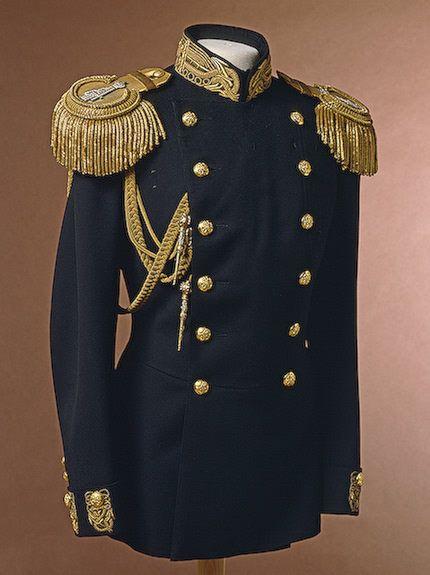 Naval officer's uniform tunic, circa 1900s.