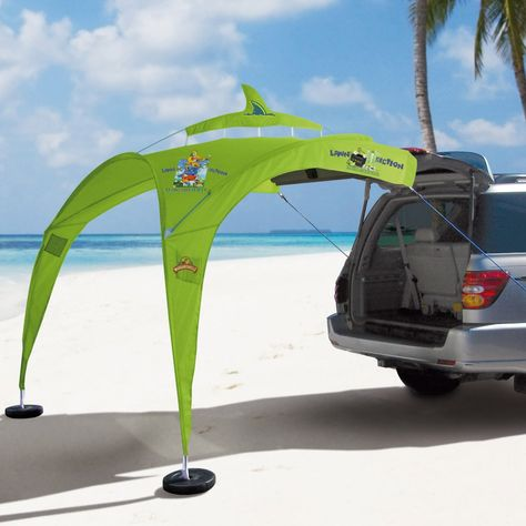 Check out this tailgating tent dream come true! Looks easy to use and lets you use your car trunk for extra seating. #tailgating #footballseason