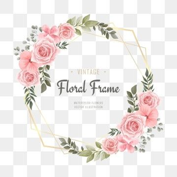 Creative Floral Heart Frame With Watercolor Flowers Purple Theme Watercolor Clipart Wedding Invitation Png Transparent Clipart Image And Psd File For Free Do Flower Drawing Flower Frame Floral Border Design