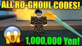 ALL 2019 WORKING (Ro-Ghoul) CODES *FREE YEN* (Roblox) | Roblox Games
