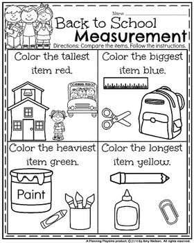 Kindergarten Math And Literacy Printables Back To School With