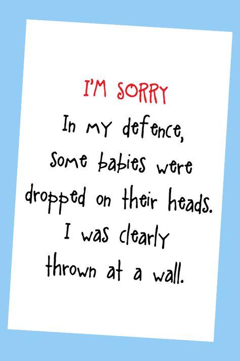 graphic regarding Printable Sorry Card called Checklist of Pinterest im sorry boyfriend amusing playing cards photographs im