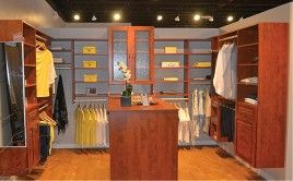Master Walk In Closet At The Vermont Custom Closets Showroom In Williston,  Vermont.