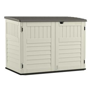 Hide Unsightly Garbage Cans And Organize Your Storage Space With This Durable Suncast Stow Away Resin Hor In 2020 Shed Storage Outdoor Storage Sheds Wood Storage Sheds