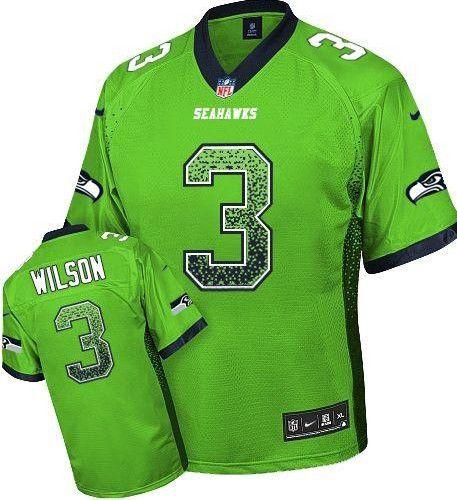 ... Steel Blue Tank Top Suit NFL Jersey 2013 NEW Nike Elite Seattle Seahawks  3 Russell Wilson Drift Fashion Green Jerseys Mens ... 149857cfb