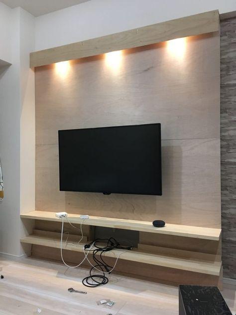 壁掛けテレビボードのdiyに初挑戦 壁掛けテレビ ディアウォール 壁掛けテレビ ディアウォール 壁掛け