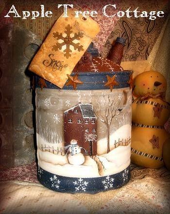 hand painted, vintage kerosene can