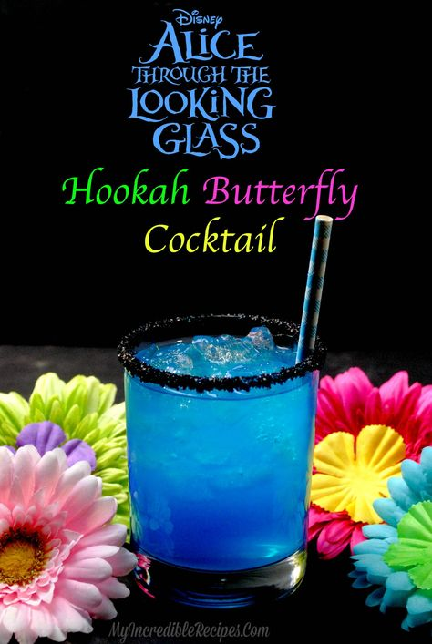 – Incredible Recipes From HeavenHookah Butterfly Cocktail! – Incredible Recipes From Heaven Alice In Wonderland Wedding, Wonderland Party, Party Drinks, Cocktail Drinks, Malibu Cocktails, Blue Curacao Drinks, Virgin Cocktails, Malibu Rum, Mix Drinks