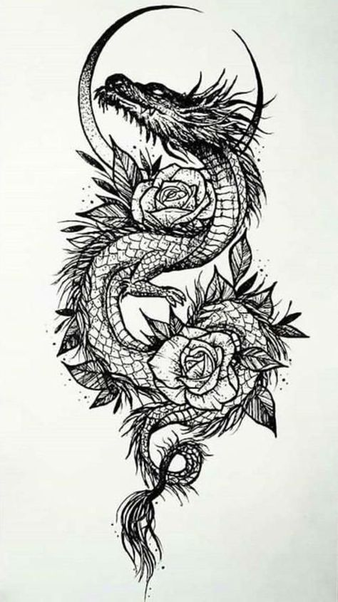 Mini Tattoos, Body Art Tattoos, Small Tattoos, Small Dragon Tattoos, Tattoo Design Drawings, Tattoo Sketches, Art Sketches, Badass Tattoos, Cool Tattoos
