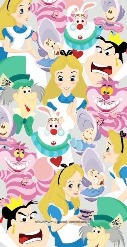 Drawing Disney Cute Alice In Wonderland 19 Best Ideas Drawing Disney Wallpaper Disney Phone Wallpaper Disney Drawings