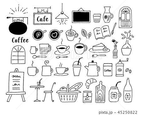 特殊 カフェ 素材 イラスト 2020 カフェイラスト コーヒーのイラスト イラスト 手書き