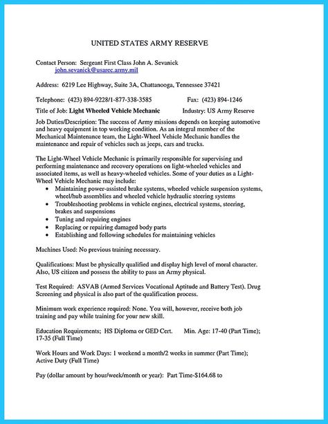 awesome Delivering Your Credentials Effectively on Auto Mechanic - automotive mechanic resume