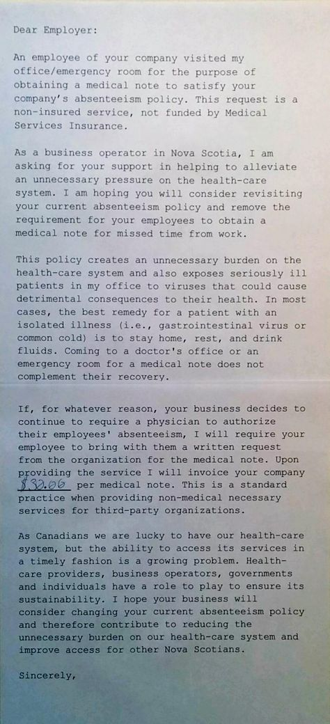 doctor responds to sick note I like it Pinterest Sick - medical note
