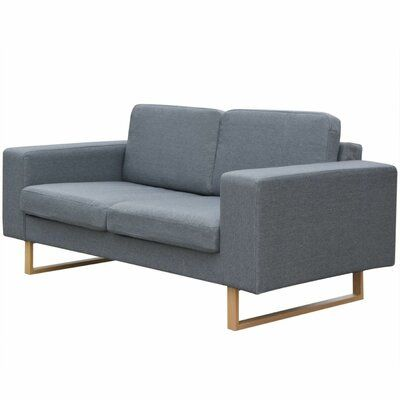Vidaxl Vidaxl 2 Seater Sofa Fabric Light Gray Couch Furniture