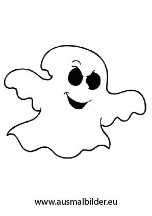 Ausmalbild Komisches Gespenst Halloween Ausmalbilder